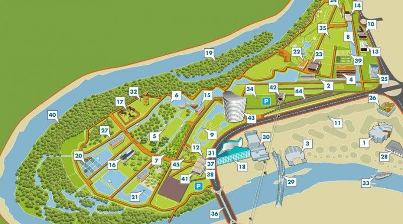 Mapa parque del agua