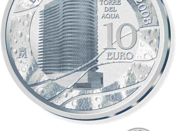 Moneda torre del agua