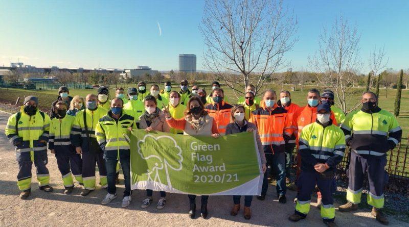 El Parque del Agua Luis Buñuel de Zaragoza ha renovado, por cuarto año consecutivo, el premio Bandera Verde