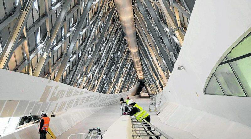 Las obras del Pabellón Puente entran en la recta final con el objetivo de reabrir a finales de año