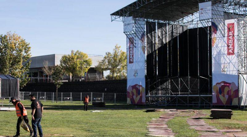 El nuevo escenario de Ranillas para el Pilar: tres graderíos, 3.000 sillas y una malla de ocultación